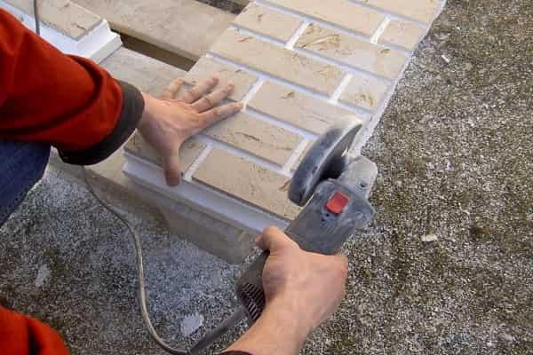 чем резать клинкерную плитку в домашних условиях: особенности использования болгарки