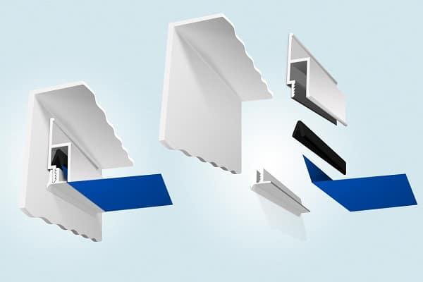 как приклеить плинтус к натяжному потолку: пластиковые плинтуса и их особенности
