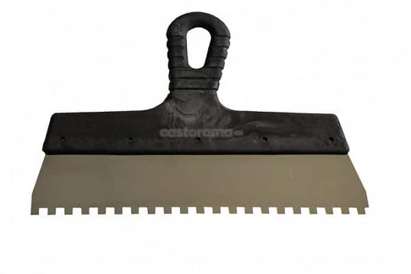 как выбрать зубчатый шпатель для укладки плитки: материал изготовления