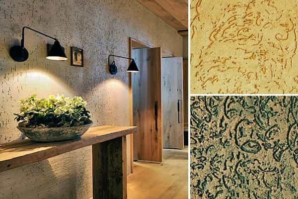 как выбрать декоративную штукатурку для стен: короед и его особенности